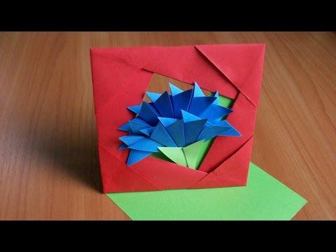 Видео как сделать объёмную открытку на новый год