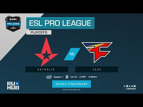 Astralis vs FaZe - ESL Pro League S7 Finals - map1 - de_mirage [ceh9, yXo] (видео)