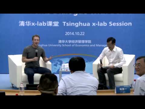 translation - Mark Zuckerberg spoke Chinese during a Q&A session at Tsinghua University in China. I'm providing English translation as subtitles. I provide a few comments for context when the translation...