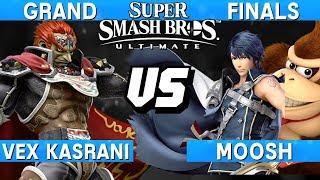 Smash Ultimate Tournament Grand Finals - Moosh (DK / Chrom) vs Vex Kasrani (Ganondorf) - S@LT 179