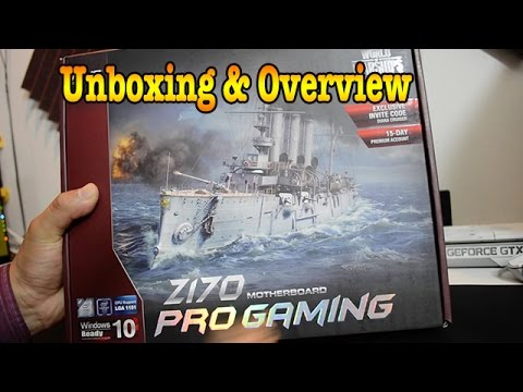 Asus Z170 Pro Gaming Motherboard Unboxing And Overview