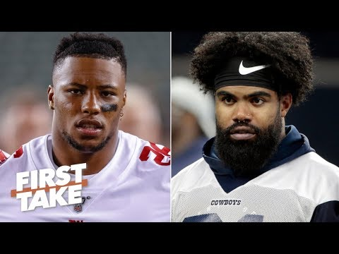 Video: 'Saquon, Saquon, Saquon!' – Max Kellerman predicts Barkley will outdo Zeke this season   First Take