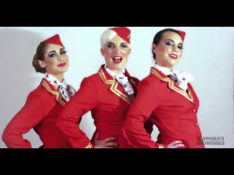Sapphira - My Heart Belongs To Branson - Sexy Airline Safety Demonstration Video (видео)