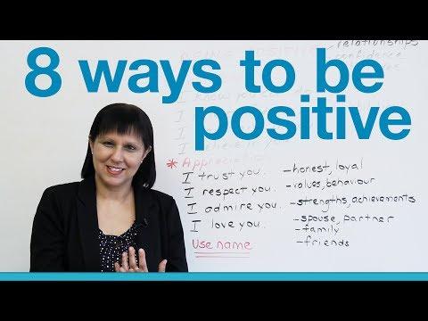 (videó) Nyolcféleképp pozitívan - angol szókincsfejlesztés középfokon