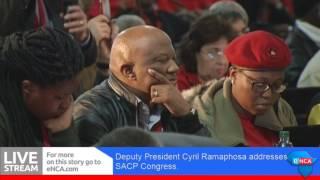 BOKSBURG, 12 July 2017 – Deputy President Cyril Ramaphosa will address delegates at the SACP Congress held in Boksburg.