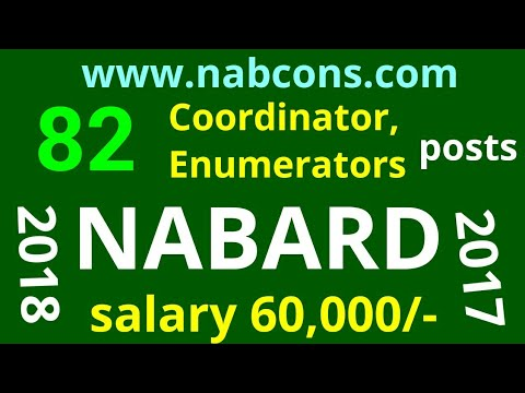 NABARD Consultancy Services Recruitment 2018