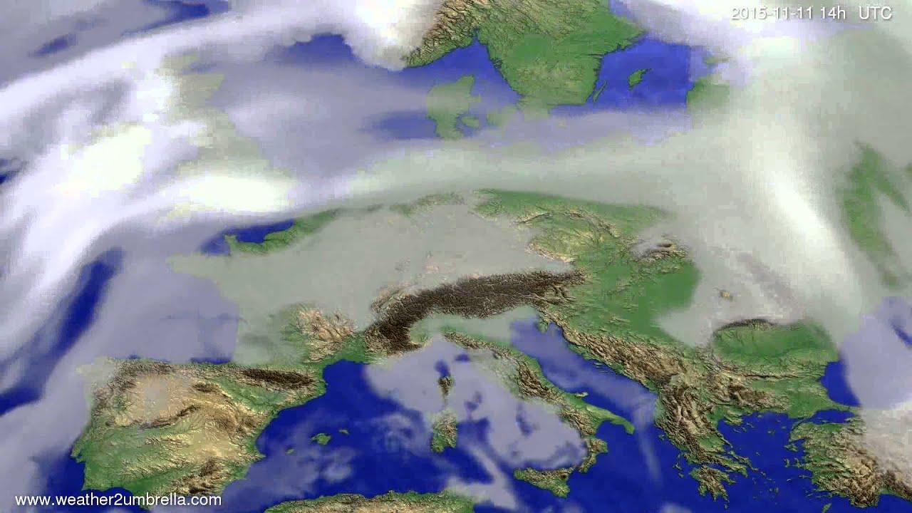 Cloud forecast Europe 2015-11-07