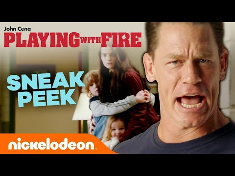 Playing With Fire 🔥 'Exclusive Sneak Peek' w/ John Cena | Nick