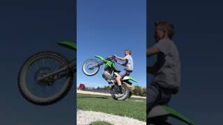 7. Learning to wheelie on a klx 125 2006