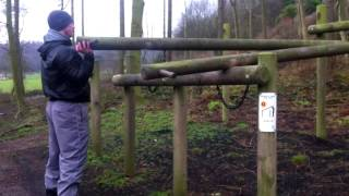 Working out at The Bousdale Trail in Pinchinthorpe Woods, near Roseberry Topping.It was a very cold, wet, windy and miserable day, but no excuses to not keep fit.
