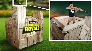 Real Life Fortnite Base Challenge! (Fortnite in Real Life)