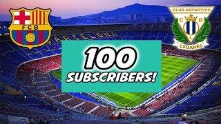 Dzięki za 100 SUBÓW !Specjalnie dla Was relacja na żywo ze stadionu Barcy !