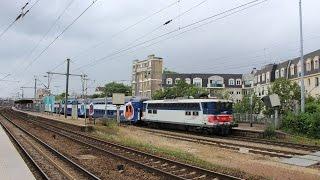 Carrieres-sur-Seine France  city images : IC, RER A et autres en gare de Houilles Carrières-sur-Seine
