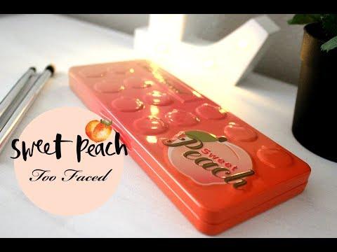 Maquillaje utilizando la paleta Sweet Peach de Too Faced
