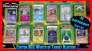 Pokemon Cards - Opening a CUSTOM BOOSTER BOX Worth of Target 3 Pack Blisters by ThePokeCapital