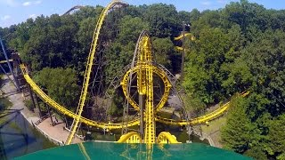 Loch Ness Monster front seat on-ride HD POV @60fps Busch Gardens Williamsburg