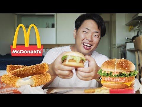 Пробуем корейский Макдональдс. Бургер из креветок!