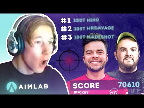Who has the BEST aim? | 100 Thieves Aim Lab Challenge ft. @Nadeshot & @Hiko