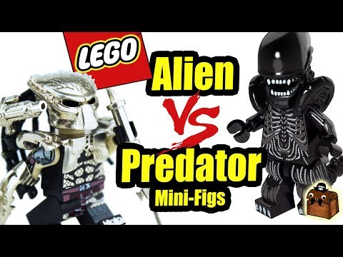 Alien vs Predator LEGO Custom Minifigures Brick Predator
