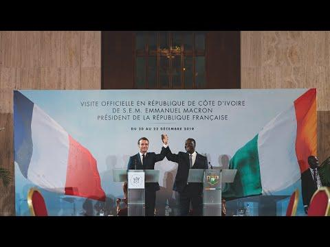 À Abidjan, conférence de presse avec Alassane Ouattara, Président de la République de Côte d'Ivoire