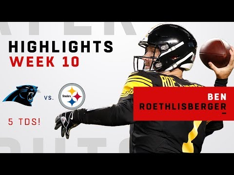 Big Ben Has More TDs Than Incompletions vs. Panthers!