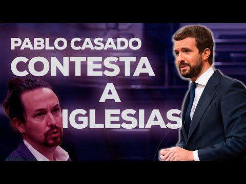 Pablo Casado contesta a Iglesias en la moción de c...