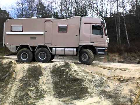 6x6 Mb Actros truck expeditionvehicle first off-road test ride