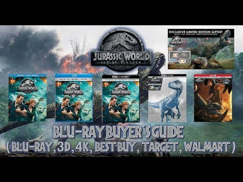 JURASSIC WORLD: FALLEN KINGDOM - 4K/BLURAY UNBOXING (BLU, 3D, 4K, BEST BUY, TARGET, WALMART) BBG