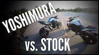 9. Suzuki GSX-S750 - Yoshimura Alpha Signature vs. Stock Exhuast