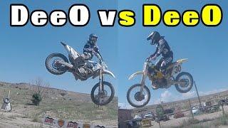 7. DeeO vs DeeO | 2012 Kawasaki KX450F vs. 1998 Suzuki RM250 | Aztec Raceway