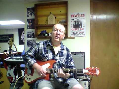 Kay Truetone Vanguard Lawman-Mike Guitar Demo