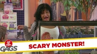 Scary Monster Funny Prank