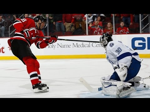 Jaromir Jagr Breakaway Goal on Bishop 10/29/13 Devils vs Lightning