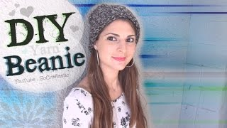 Easy DIY Beanie - Knit a Hat on the Knitting Loom - Yarn How To for Beginners - YouTube