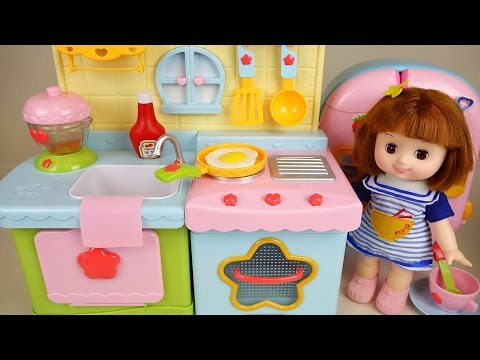 Baby Doll Kitchen And Play Doh Cooking Play