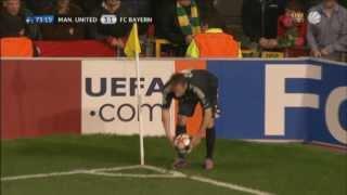 Arjen Robben's fantastic volley kick against ManUtd.