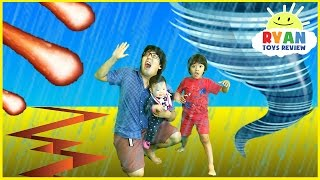 NATURAL DISASTER SURVIVAL Family Fun Kids Pretend Playtime Rya...