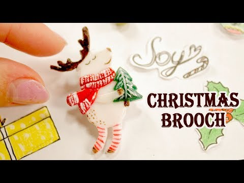 Christmas Gift || Brooch Deer || DIY