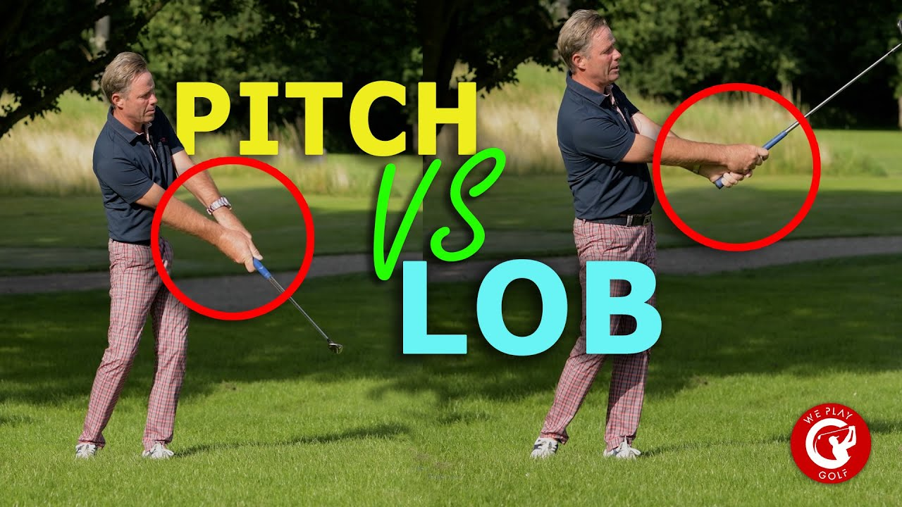 The difference between a PITCH shot and LOB shot explained - An easy golf tutorial