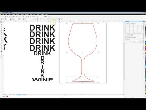 How To Make Text Fit Inside Shapes In Corel. Wine Glass