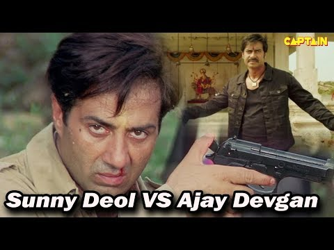 Top Bollywood Action Scenes    Sunny Deol VS Ajay Devgan