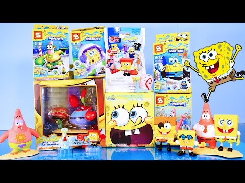 Spongebob Squarepants Toys Videos Opening Blind Bag Mr Krabs & Plankton Set - Disney Cars Toy Club