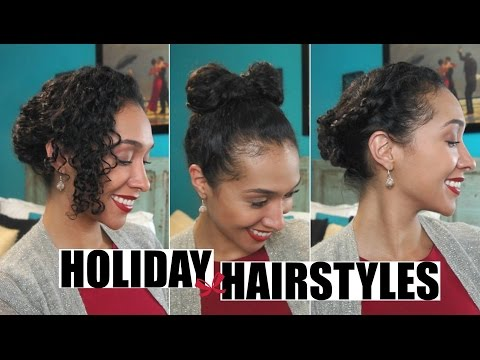 Three Easy Curly Hairstyles for the Holidays