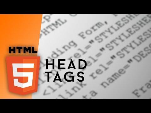 HTML – Head Tags