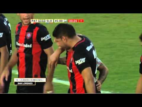 Gol de Romagnoli. Patronato 1 – San Lorenzo 1. Fecha 1. Primera División 2016.