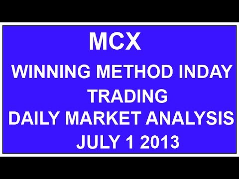 WINNING METHODS IN DAY TRADING – MCX DAY TRADING MADE EASY GOODWILL COMMODITIES