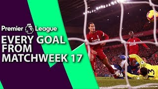 Every goal from Premier League Matchweek 17   NBC Sports