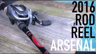 Video Bass Fishing Rod & Reel Arsenal -- 2016 Edition. MP3, 3GP, MP4, WEBM, AVI, FLV Oktober 2018