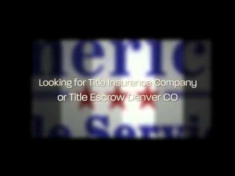 (719) 225-1348 @ American Title Services, title insurance company & title escrow Denver CO