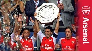 Arsenal V Man City: Community Shield Pitch Side Celebrations